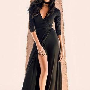 Lulu's Garden District Black Wrap Maxi Dress Sz S